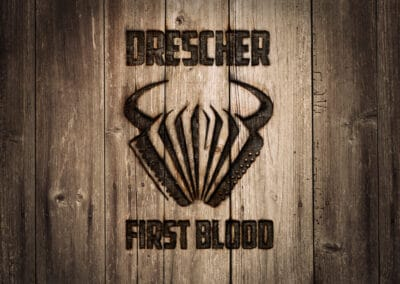 "Logodesign und Album-Cover ""Drescher - First Blood"""