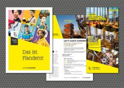 """Editorial-Design (Broschüren, Handouts, Grossflächen) """"Visit Flanders"""""""