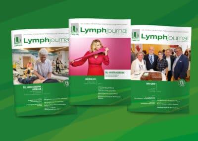 """Broschüren-Design """"Lymphjournal, Österreichische Lymph-Liga"""""""