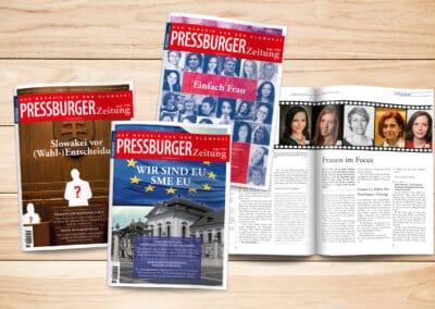 "Broschüren-Design, Art-Direction ""Pressburger Zeitung"""