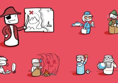 "Cartoons ""The better way"""